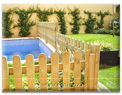 Vallas madera valla texana valla inglesa valla de listones cercados madera ocultaciones girona - Vallas de madera para piscinas ...
