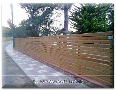 Tancaments fusta texana fusta anglesa fusta de llistons - Gespa artificial girona ...