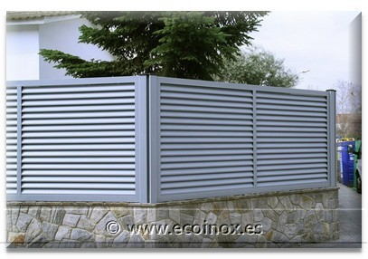 Vallas aluminio cierres lama z lama s valla ciega valla de for Vallas de aluminio para jardin
