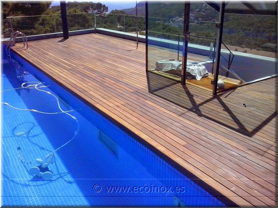 Ecoinox clients obres realitzades gespa artificial - Tarima flotante de madera ...